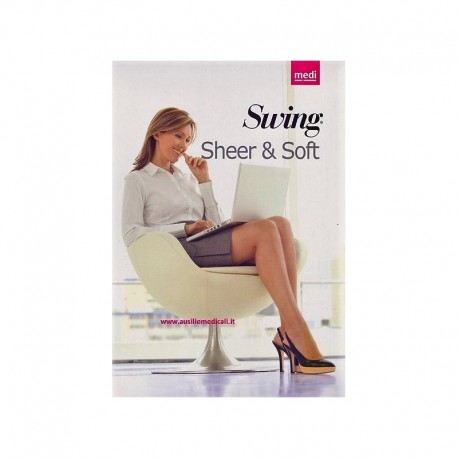 Autoreggente SHEER AND SOFT 14 mmHg Col. Visone